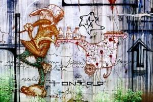 Grafitagem de Galo (Recife – PE) dialoga com internet