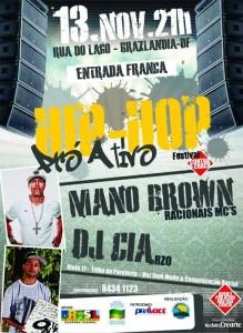 Hip Hop Pró Ativo traz ao DF Mano Brown e DJ Cia