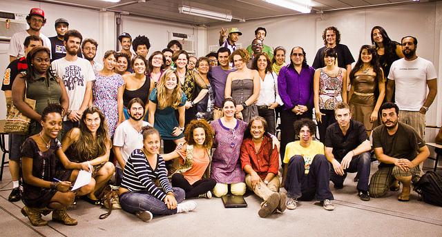 Grupo que participou de um dos dias do encontro (Foto: Fora do Eixo)