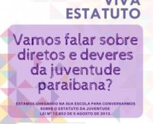 Governo da Paraíba realiza Projeto Viva Estatuto em escolas de João Pessoa