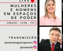 Andrea Nogueira e Ismênio Bezerra realizam diálogo sobre espaços de poder