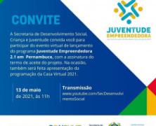 Governo de Pernambuco adere ao Juventude Empreendedora 2.1