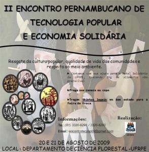 II Encontro Pernambucano de Tecnologia Popular e Economia Solidária