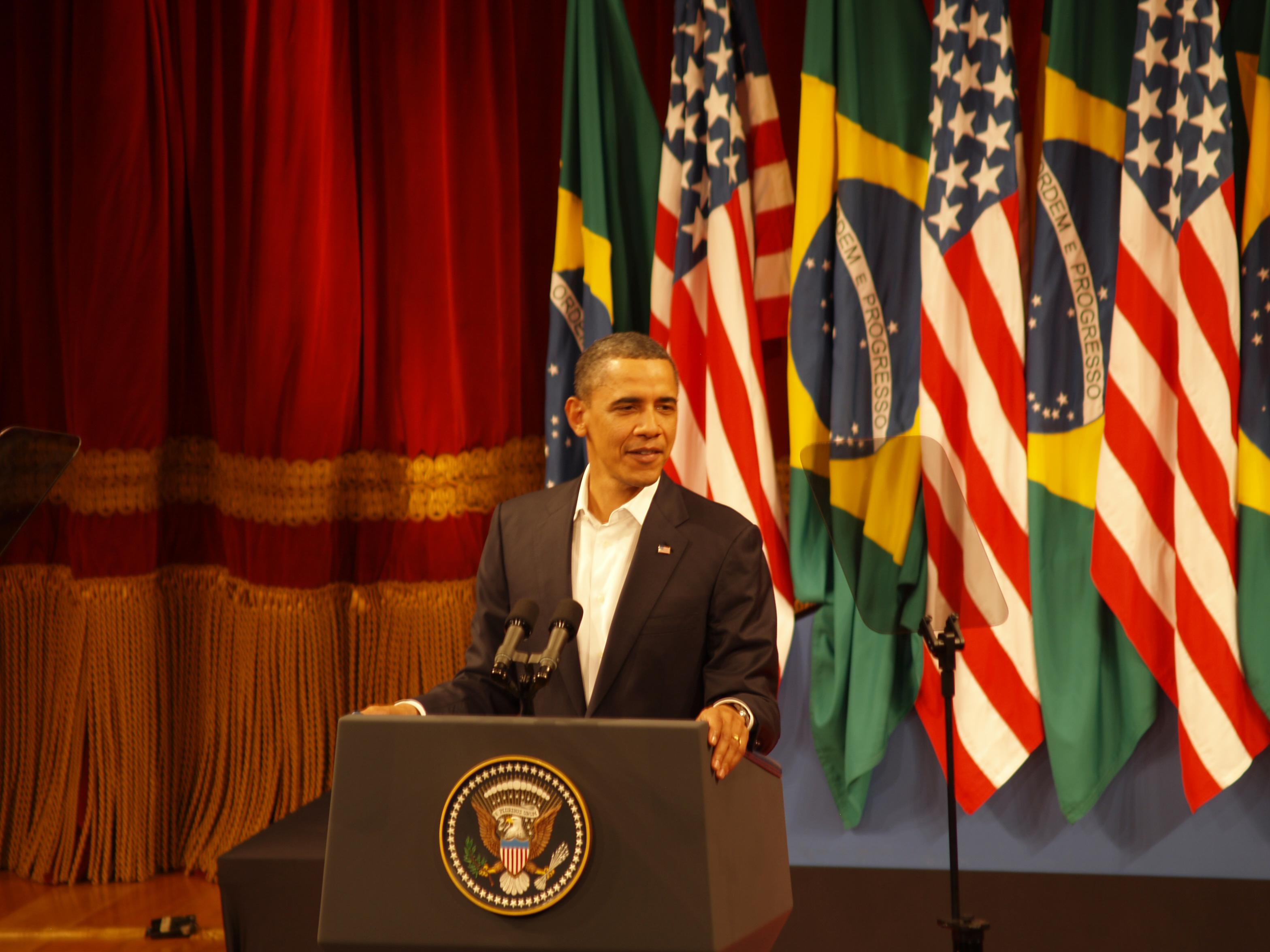Obama enaltece o Brasil e afirma aliança entre as nações