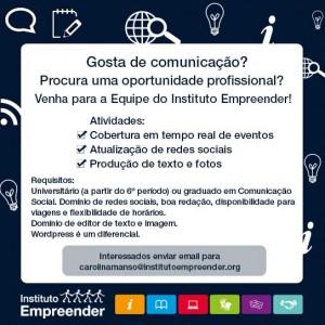 Vaga para profissional de Comunicação
