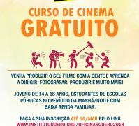 Instituto Querô abre inscrições para curso de cinema gratuito